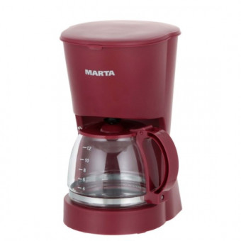 Кофеварка капельного типа Marta MT-2118 Vinous Garnet по промокоду